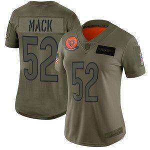 Women Bears Khalil Mack Jersey 3